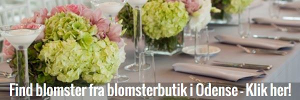 Knap til at finde en blomsterbutik og blomsterforretning i Odense